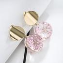 Alloy Simple Flowers earring  Peach ear hook section NHLJ3975Peachearhooksection
