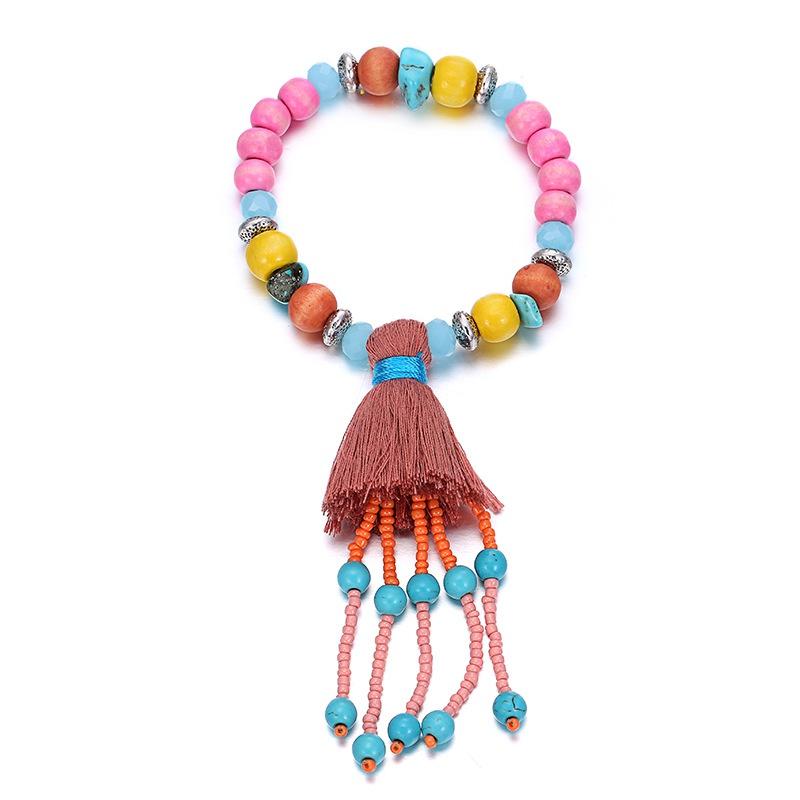Alloy Bohemia Geometric bracelet  (Mixed color) NHTF0048-Mixed-color