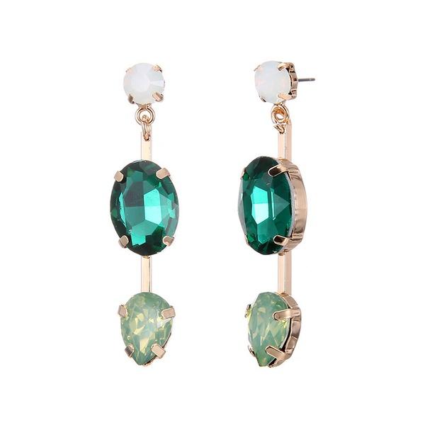Alloy Fashion Geometric earring  (Alloy + Green) NHTF0062-Alloy-Green