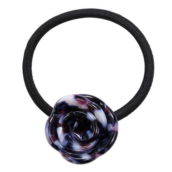 Acrylic Korea Flowers Hair accessories  (blue) NHTF0073-blue