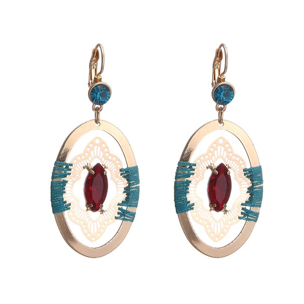 Alloy Fashion Geometric earring  (Alloy + color mixing) NHTF0078-Alloy-color-mixing