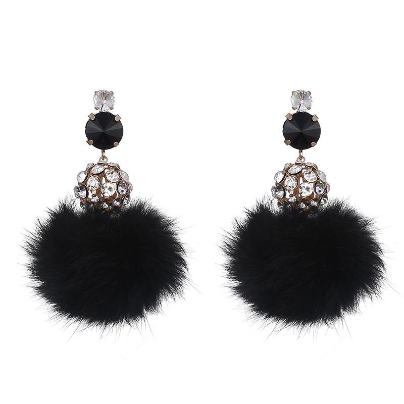 Alloy Fashion Geometric earring  Alloy + Black NHTF0081AlloyBlack