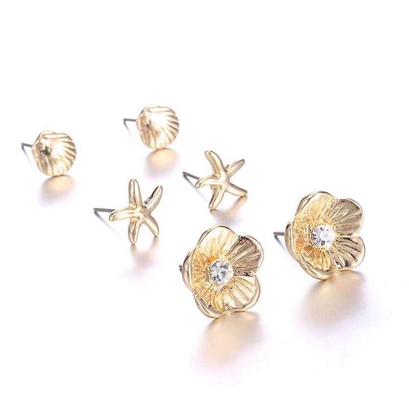 Alloy Fashion Flowers earring  (Alloy) NHTF0084-Alloy