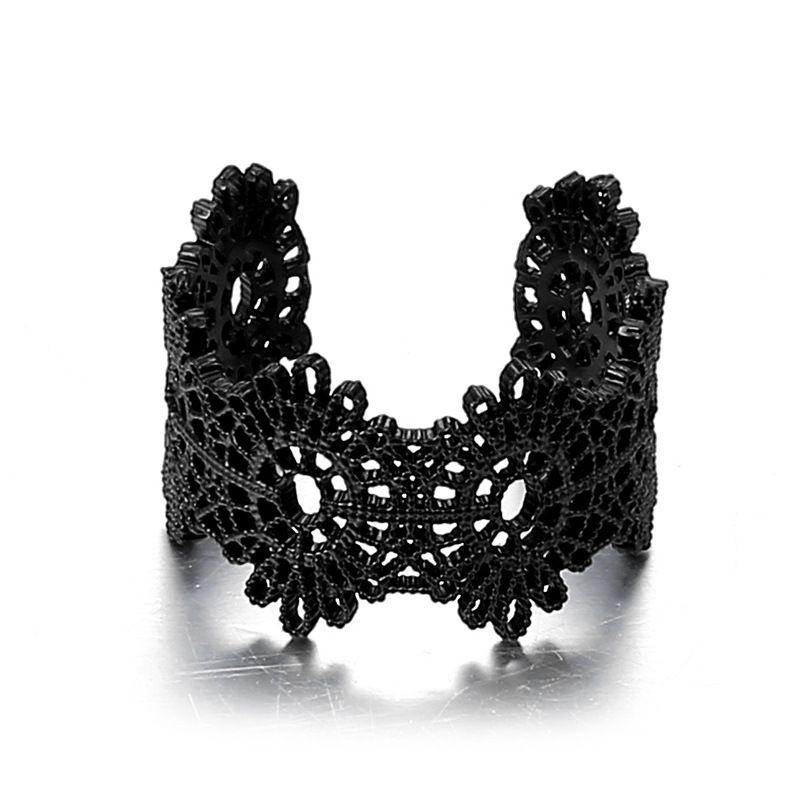 Copper Fashion Flowers Ring  (Carbon black) NHTF0086-Carbon-black