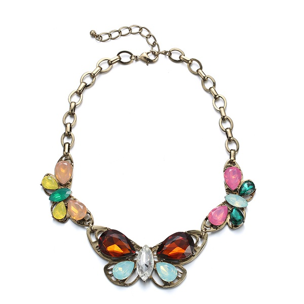 Alloy Fashion Animal necklace  (Mixed color) NHTF0090-Mixed-color