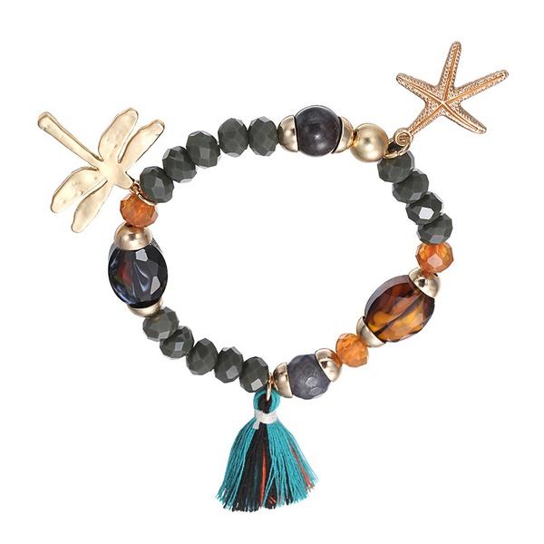 Alloy Vintage Animal bracelet  (Dumb alloy + color mixing) NHTF0093-Dumb-alloy-color-mixing