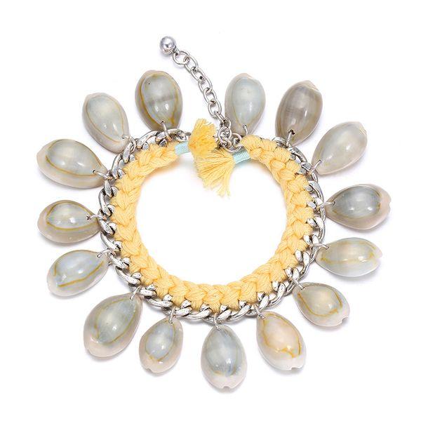 Alloy Fashion Geometric bracelet  (Khaki) NHTF0091-Khaki