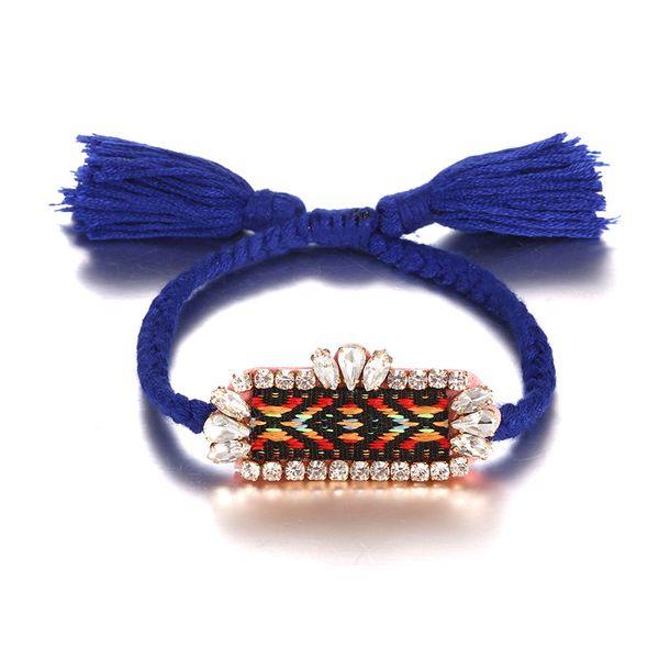 Alloy Fashion Geometric bracelet  (Alloy + Blue Red) NHTF0097-Alloy-Blue-Red