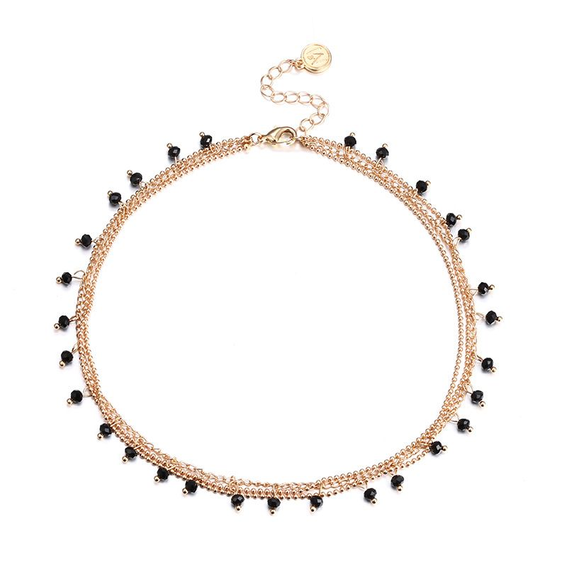 Alloy Korea Geometric necklace  (Alloy + Black) NHTF0099-Alloy-Black