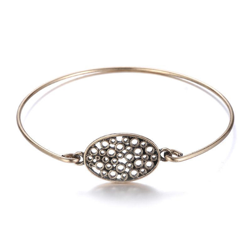 Alloy Fashion Geometric bracelet  (Ancient alloy) NHTF0107-Ancient-alloy