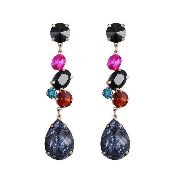 Alloy Fashion Geometric earring  (Alloy+Magnolia) NHTF0115-Alloy+Magnolia