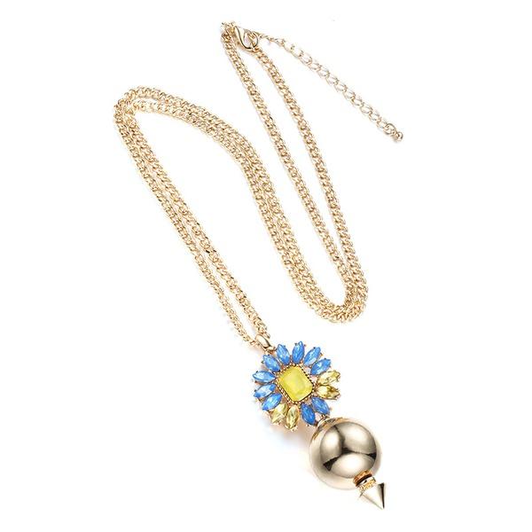 Alloy Korea Geometric necklace  (KC alloy + color mixing) NHTF0119-KC-alloy-color-mixing