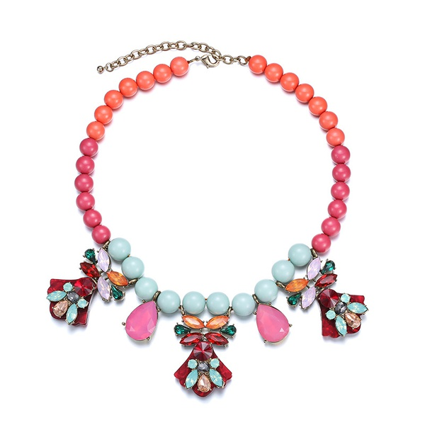 Alloy Fashion Geometric necklace  (Mixed color) NHTF0120-Mixed-color