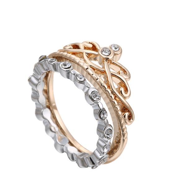 Alloy Korea Geometric Ring  (Alloy + White US7) NHTF0121-Alloy-White-US7