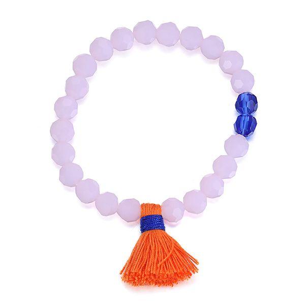 Imitated crystal&CZ Bohemia Geometric bracelet  (Pink) NHTF0122-Pink