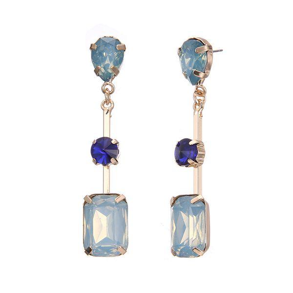 Alloy Fashion Geometric earring  (Alloy + blue) NHTF0127-Alloy-blue