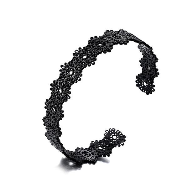 Copper Fashion Flowers bracelet  (Carbon black) NHTF0143-Carbon-black