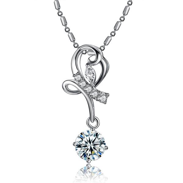Alloy Korea Geometric necklace  (Alloy) NHTF0145-Alloy