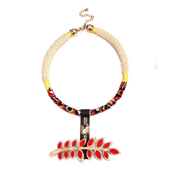 Acrylic Bohemia Geometric necklace  (Alloy + Red) NHTF0152-Alloy-Red