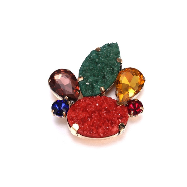 Alloy Fashion Geometric brooch  (Old alloy + color mixing) NHTF0156-Old-alloy-color-mixing