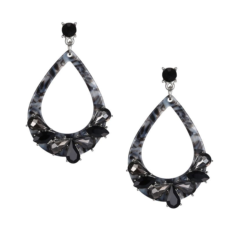 Acrylic Fashion Geometric earring  dark grey NHTF0157darkgrey