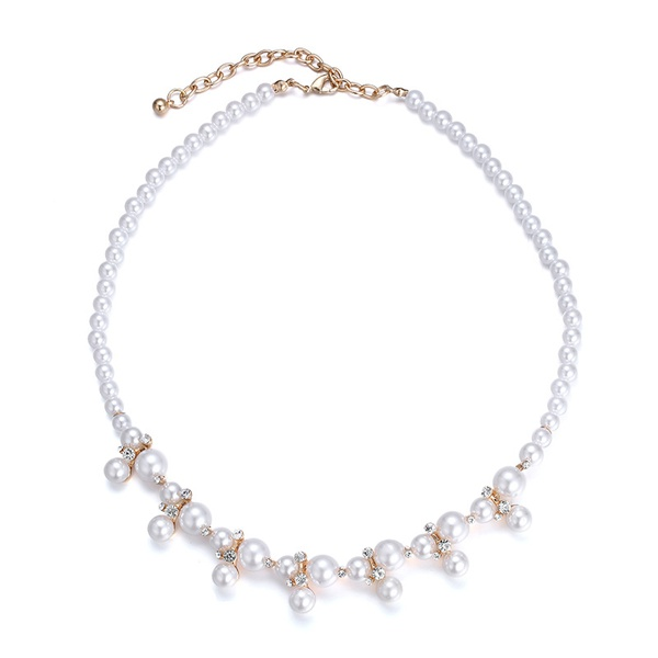 Alloy Fashion Geometric necklace  (KC Alloy) NHTF0159-KC-Alloy