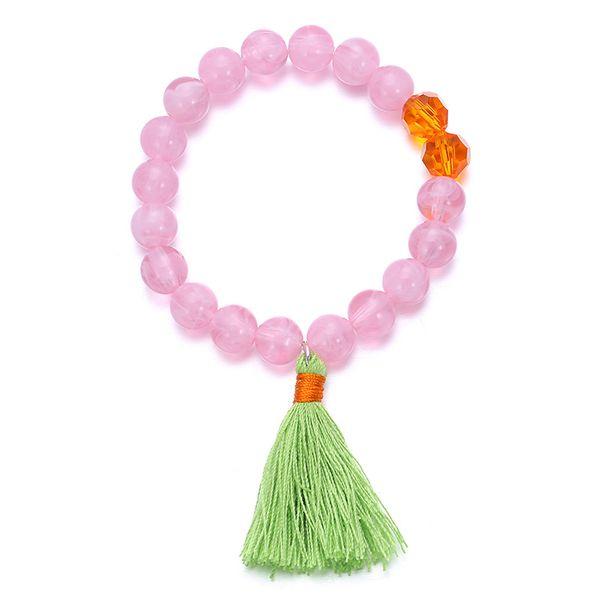 Imitated crystal&CZ Bohemia Geometric bracelet  (Pink) NHTF0162-Pink