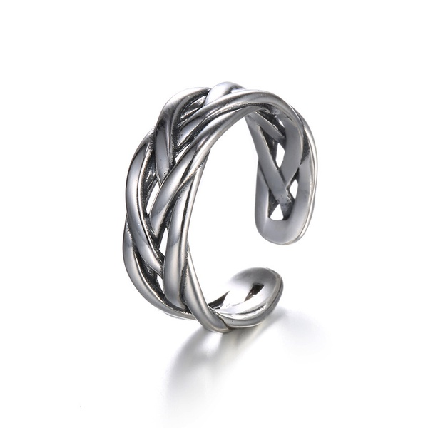 Alloy Fashion Geometric Ring  (Alloy) NHTF0164-Alloy
