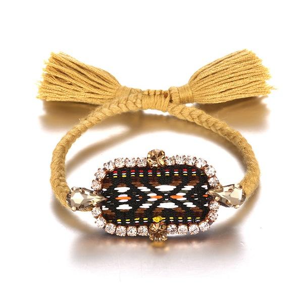 Alloy Bohemia Geometric bracelet  (Alloy + khaki) NHTF0168-Alloy-khaki