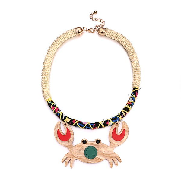Acrylic Fashion Animal necklace  (Alloy + color mixing) NHTF0180-Alloy-color-mixing