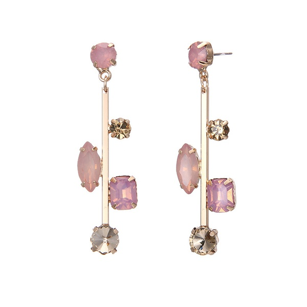 Alloy Fashion Geometric earring  (Alloy + pink) NHTF0191-Alloy-pink