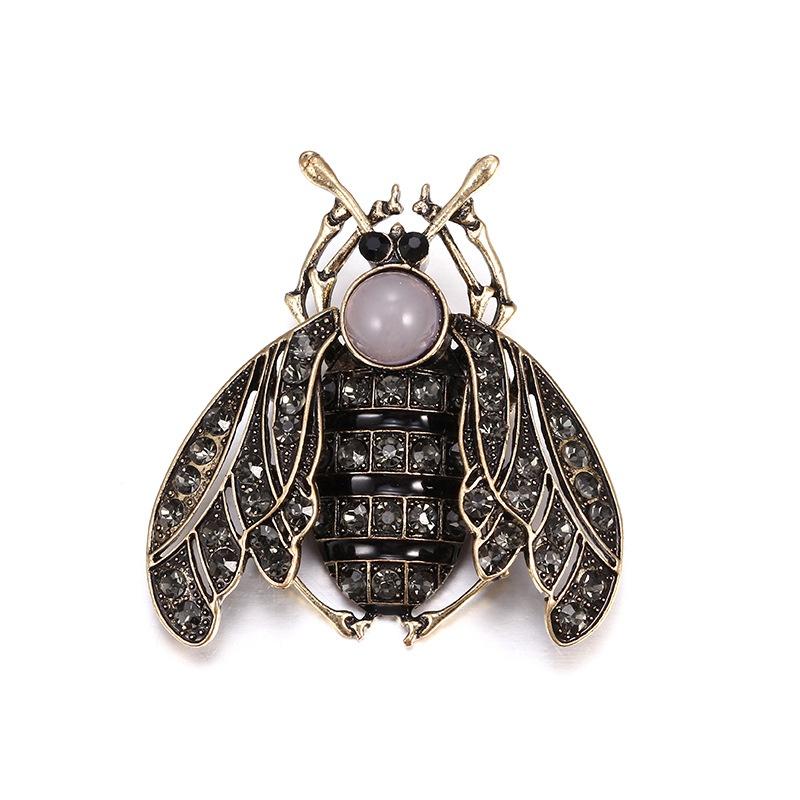 Alloy Fashion Animal brooch  (Old alloy + dark grey) NHTF0203-Old-alloy-dark-grey