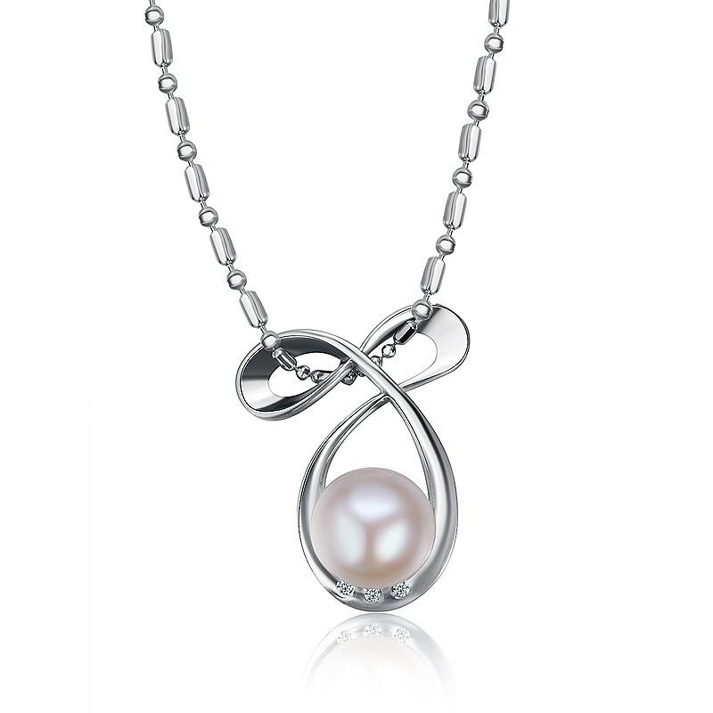 Alloy Korea Geometric necklace  (White K) NHTF0205-White-K