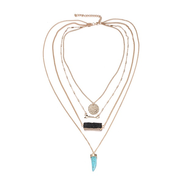 Alloy Fashion Geometric necklace  (Alloy) NHTF0207-Alloy