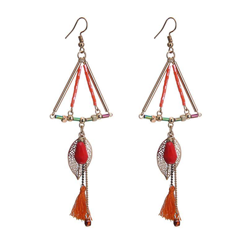 Alloy Bohemia Geometric earring  KC alloy + color mixing NHTF0245KCalloycolormixing