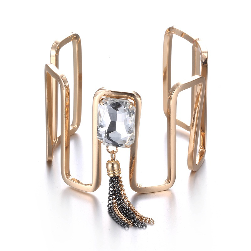 Alloy Fashion Geometric bracelet  (Alloy + white) NHTF0255-Alloy-white