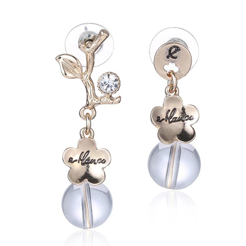Alloy Fashion Flowers earring  (Alloy) NHTF0256-Alloy