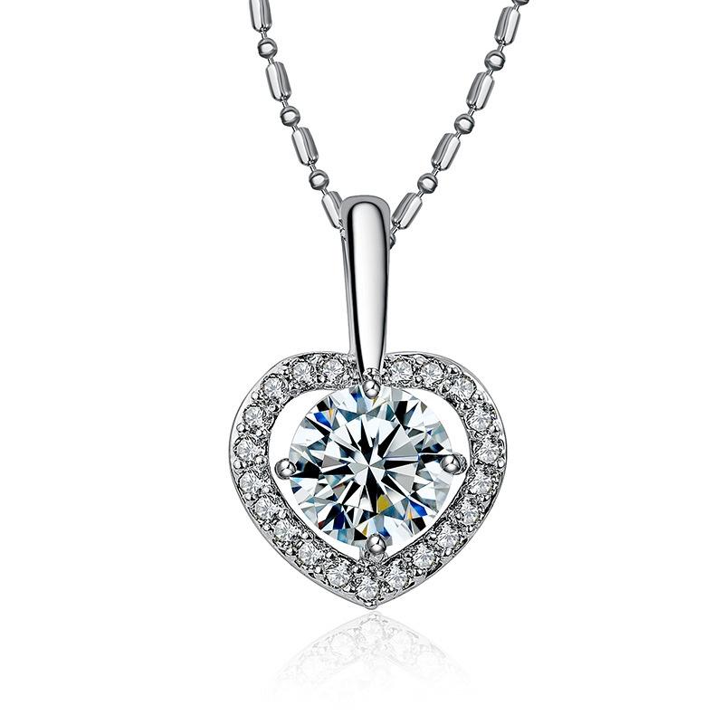 Alloy Korea Sweetheart necklace  (White K) NHTF0260-White-K