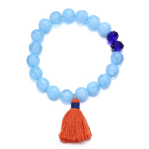 Imitated crystal&CZ Korea Geometric bracelet  (blue) NHTF0286-blue
