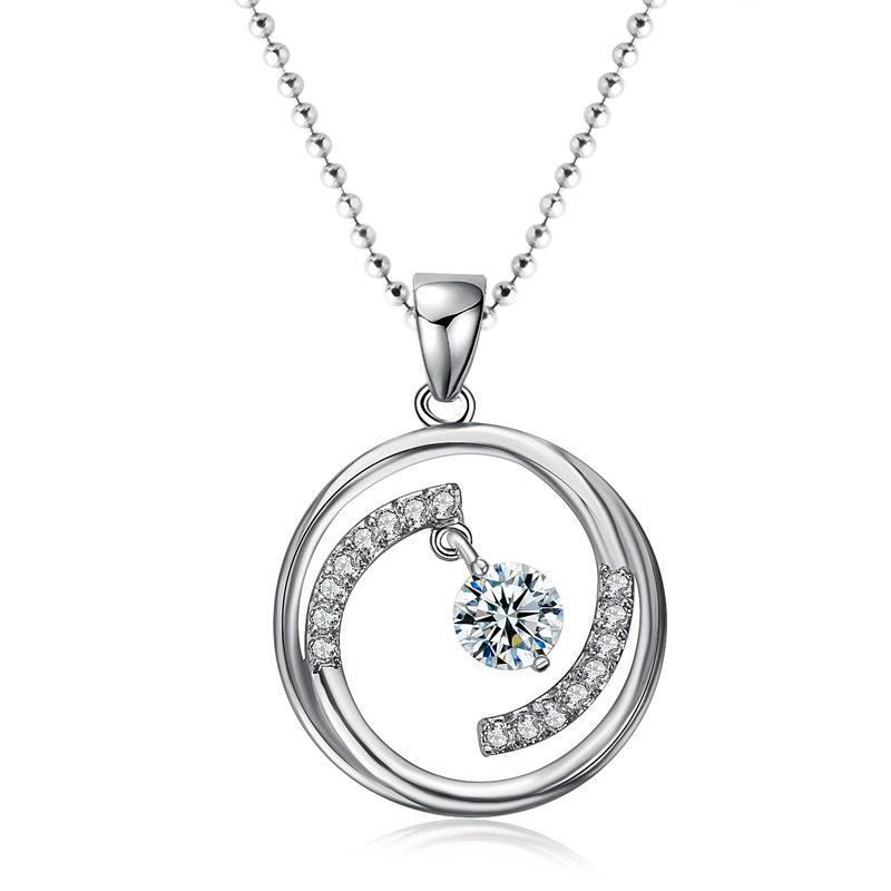 Alloy Korea Geometric necklace  (White K) NHTF0285-White-K