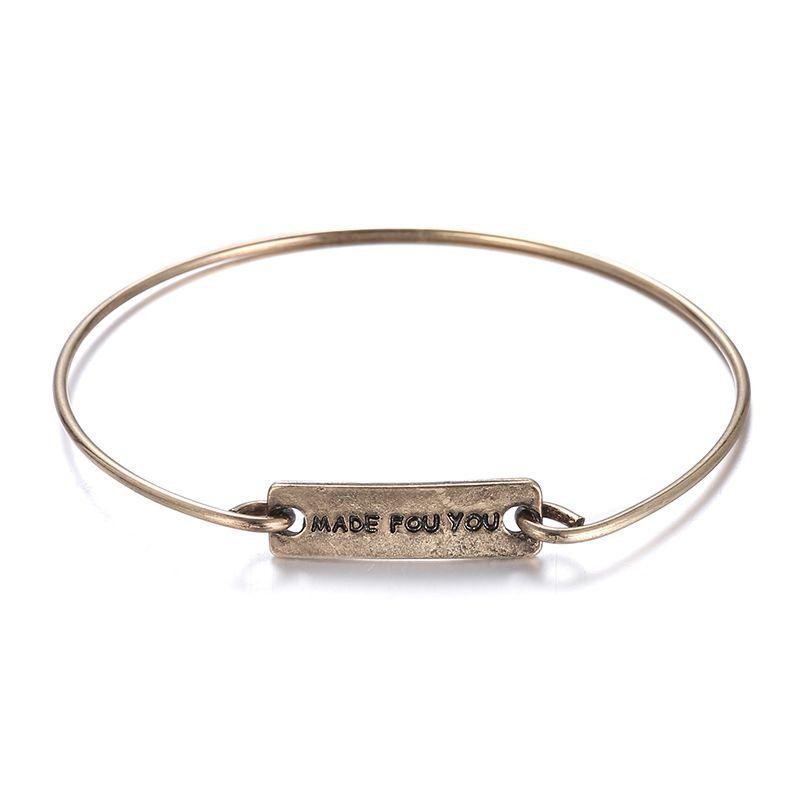 Alloy Simple Geometric bracelet  (Ancient alloy) NHTF0289-Ancient-alloy