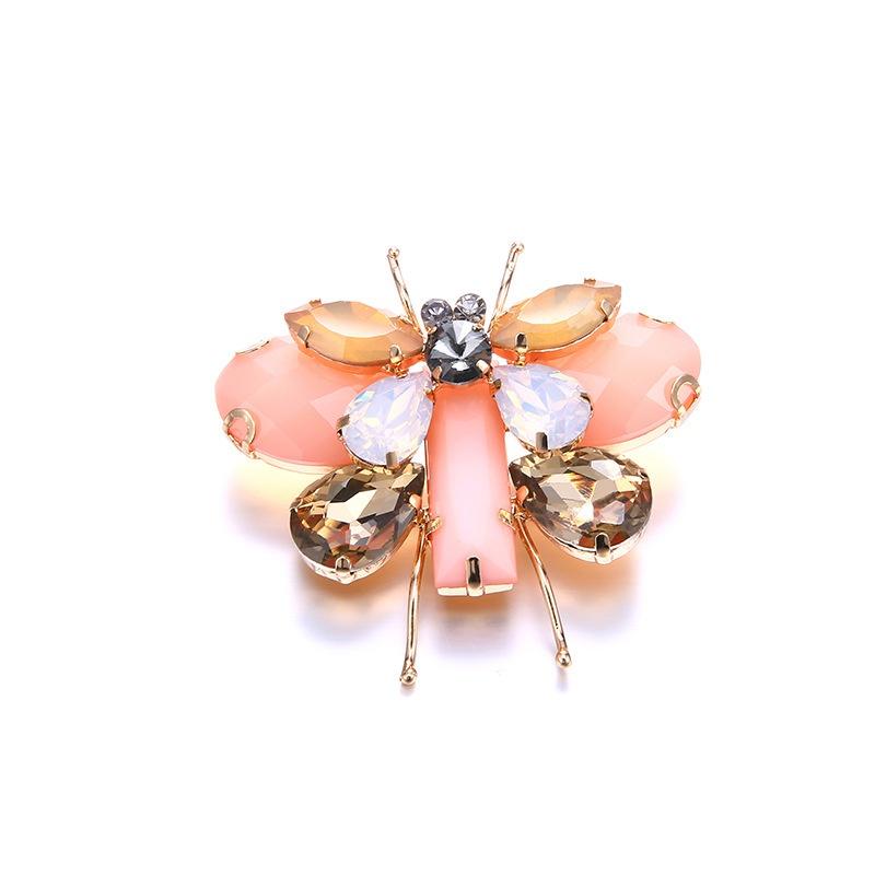 Alloy Fashion Animal brooch  (KC alloy + pink) NHTF0290-KC-alloy-pink