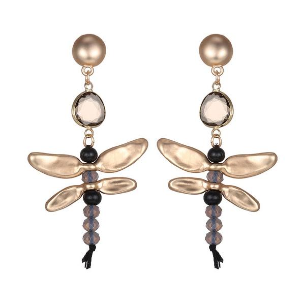 Alloy Fashion Animal earring  (Dumb alloy + black) NHTF0292-Dumb-alloy-black