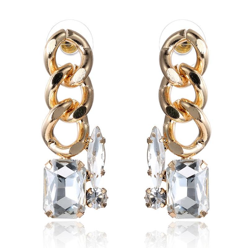Alloy Fashion Geometric earring  (white) NHTF0295-white