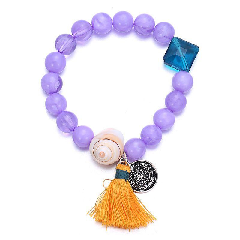 Alloy Fashion Geometric bracelet  (purple) NHTF0312-purple