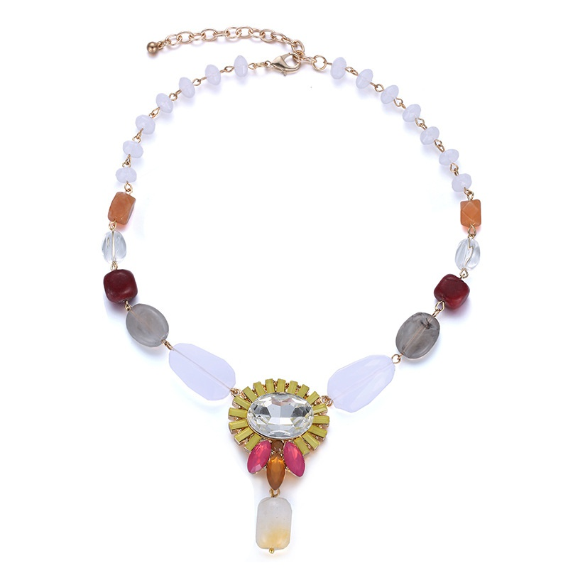 Alloy Fashion Geometric necklace  (Mixed color) NHTF0317-Mixed-color