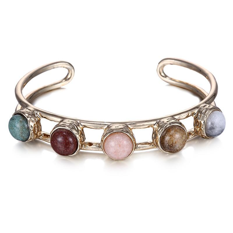 Alloy Fashion Geometric bracelet  (Dumb alloy + color mixing) NHTF0319-Dumb-alloy-color-mixing
