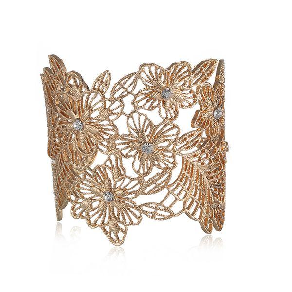 Alloy Fashion Flowers bracelet  (Alloy) NHTF0335-Alloy