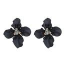 Alloy Korea Flowers earring  Titanium + Black NHTF0002TitaniumBlack