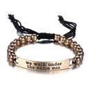 Alloy Simple Geometric bracelet  Ancient alloy + black NHTF0044Ancientalloyblack